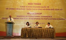 Hội thảo Chia sẻ kinh nghiệm quốc tế về chính sách phát triển thích ứng với tình hình biến đổi dân số